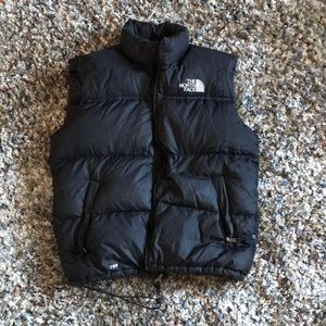 The North Face Black vest with zipper